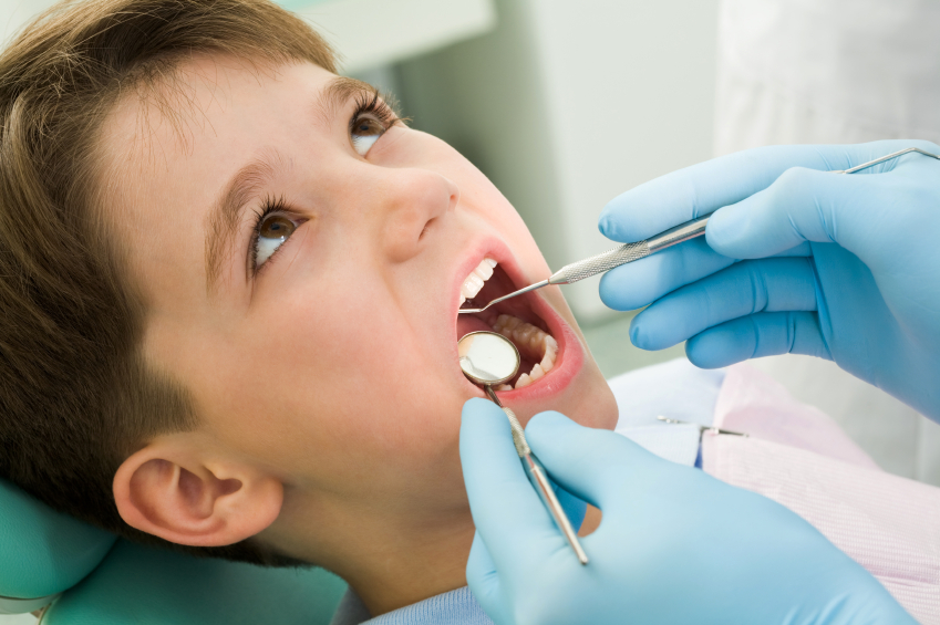 taking kid for a dental checkup