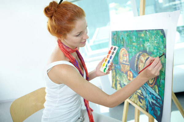 Painting the hidden stress buster for the artist in you