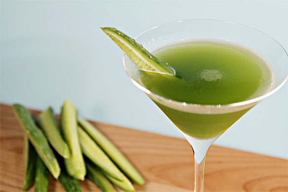 Cucumber Adding Refreshing Flavor To Cocktail