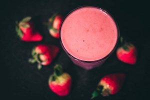 Strawberry, banana and yogurt