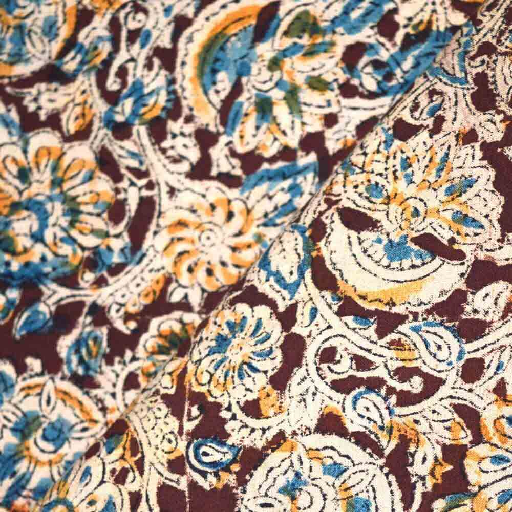 hand-painted or block printed