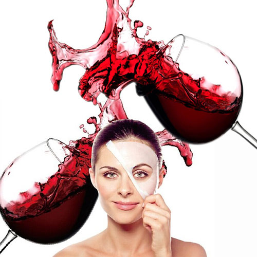Applying red wine mask
