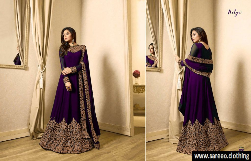 Pastel shade with plum churidar
