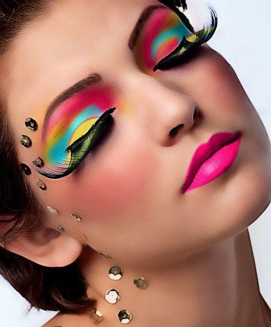 Girl applying more makeup